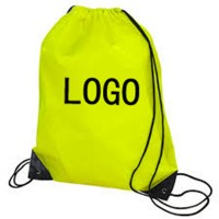 Polyester Sports Drawstring Backpack With Triangular Plate Sewn WPSK6078
