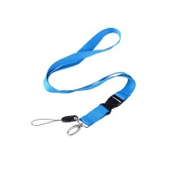 5/8″ Polyester Lanyard With Plastic Buckle Release And Phone Attachment WPSK6062
