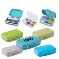 2-In-1 6 Compartments Pill Box And Cosmetic Case WPZL8083