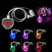 Heart Shape Light-up LED Necklace WPZL8095