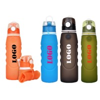 26 OZ Leak Proof Folding Silicone Water Bottle WPZL8116