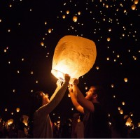 Oval Paper Sky Lanterns WPZL7107
