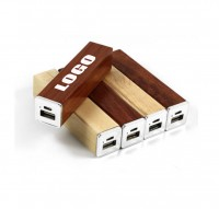 3000mAh Square Wooden Power Bank WPZL165