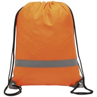 Polyester Sports Drawstring Backpack With Reflective Strap WPSK6079