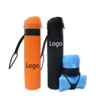 20oz Silicone Collapsible Bottle with Carabiner WPRQ9005