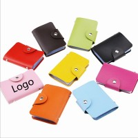 PU Leather Business Card/Credit Bank Card Wallet With 24 Cards Capacity WPRQ9008