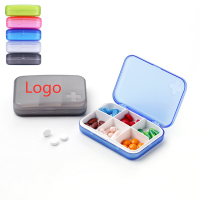 6 Compartment Pill Case – Five Color WPRQ9026