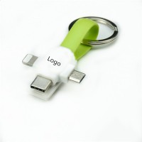 4-in-1 USB Cross Magnet Charging Cable Keychain WPRQ9031