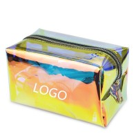 Waterproof Zippered Iridescent Cosmetic Bag for Travelling TPU Makeup Pouch WPRQ9034