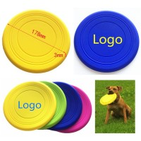 Silicone Pet Training Toys Flying Disc Safe Flyer WFRQ9038