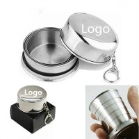 150ml-5OZ Stainless Steel Travel Folding Cup WPRQ9087