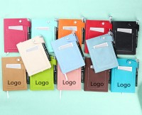 PU leather Promo Write Notebook with pen WPRQ9089