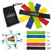 5 Piece Fitness Resistance Bands Sets with Bag WPRQ9093