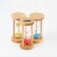 3min Wooden Frame Square Hourglass WPRQ9098