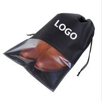 Travel Drawstring Clear PVC Visible Shoe Bag WPRQ9113