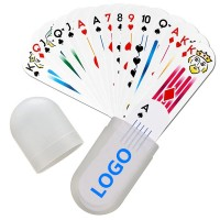 Small Oval Deck Of Cards In Plastic Case WPRQ9123