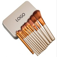 12PCS Cosmetic Makeup Brush Kit with Case WPRQ9159