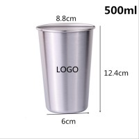 500ml-Stainless Steel 17 Oz. Pint Glass WPRQ9170