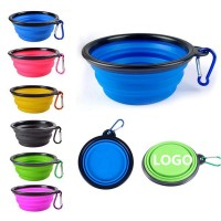 12oz Collapsible Silicone Pet Bowl with Carabiner WPAL8011