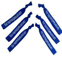 "5/8"" Silkscreen Logo Hair Ties WPAZ078"