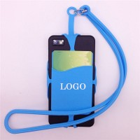 Silicone phone lanyard wallet Card sleeve WPCL8004