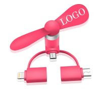 3 In 1 USB Micro Phone Fan for Cell Phone WPCL8018