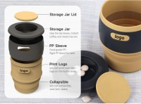 Collapsible Silicone Coffee Mugs WPEH7011