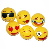 12 Emoji PVC Inflatable Beach Balls WPEH7058