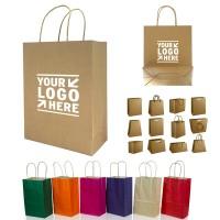 Natural Kraft Paper Shopper Tote Bag WPHZ020