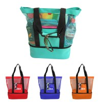Mesh Beach Tote Bag with  Picnic Cooler WPHZ046