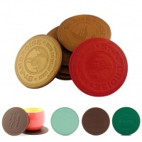 Round leather custom coaster set WPHZ055