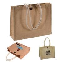 Jute Burlap Shopping Tote Bag WPHZ064