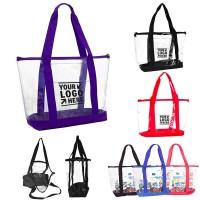 Clear Zipper Shopping Tote WPHZ091