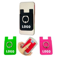 Silicone Card Holder w/Metal Ring Phone Stand WPHZ160