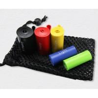 Strength Resistance Band Set (5lbs, 10lbs, 20lbs, 30lbs, 40lbs) With Mesh Bag  WPJC9008