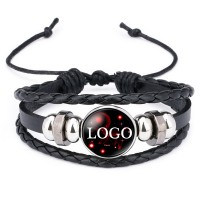 Layered Woven Leather Bracelet  WPJC9010