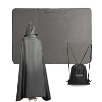 210T Ripstop Polyester 3000pu Waterproof Hooded Camping Blanket WPJC9014