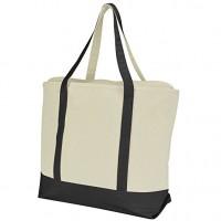 Two-Tone Heavy Duty Cotton Canvas Tote Bag WPJL8021