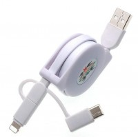 Retractable 3 in 1 Multiple USB Charging Cable WPJL8022