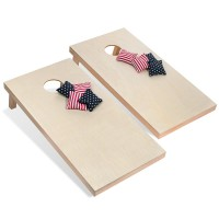 Solid Wood Premium Cornhole Set  with Bean Bags WPJL8033