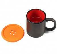 Button Shape Heat Resistance Silicone Drinks Coaster Cup Pads WPJL8036