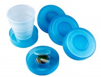 Plastic Collapsible Travel Cup and Pill Box WPJL8076