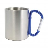 Stainless Steel Mug with Carabiner Handle WPJL8115
