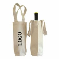 Single Bottle Canvas Wine Tote Bag  WPJZ005