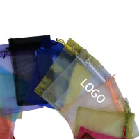 Multi-Colors Organza Drawstring Bag WPKW087