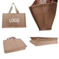 16″ W x 14″ H Jute Bag with Rope Handle WPKW111