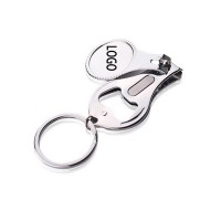 Round Nail Clipper With Bottle Opener Keyring WPKW126