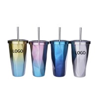 Vacuum Insulated Stainless Steel Cup with Straw WPKW8002