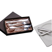 Stainless Steel Cutlery Steak Fork Knife  Set 4 Piece with Case WPKW8011