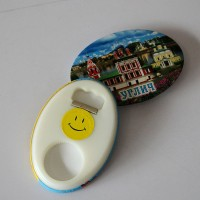 Oval  Tinplate Fridge Magnet  Opener  WPLC20005